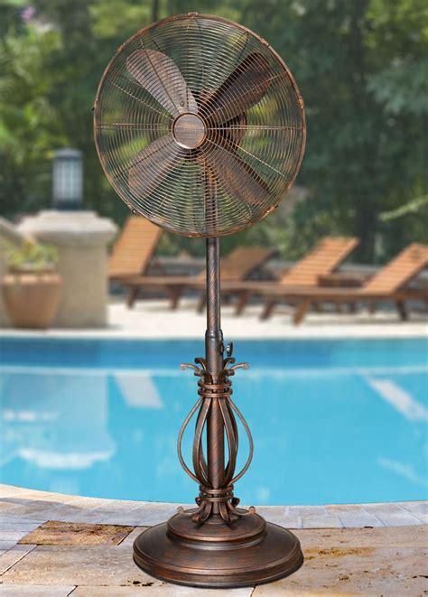 dbf prestigious outdoor patio fan floor standing
