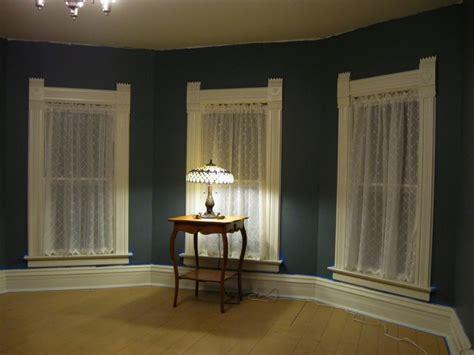 window treatment curtains casings baseboard