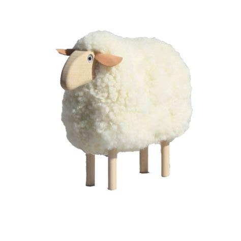 tabouret de cuisine mouton déco fourrure blanche objets de déco design