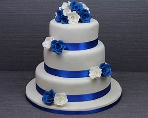 87 best Cakes - Multi tier Royal Blue wedding images on ...