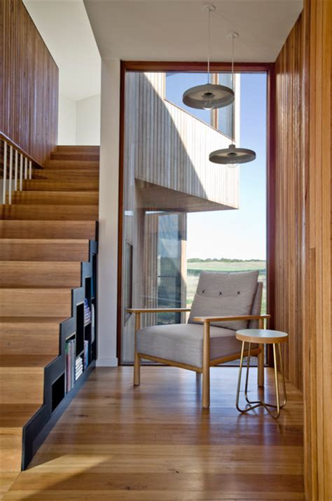 Th Beach House Stair And Reading Nook Contemporary
