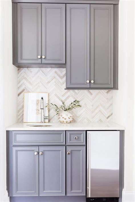 grey kitchen cabinets with backsplash sparkly white kitchen herringbone backsplash classic