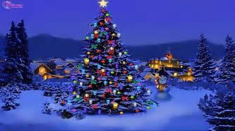 merry winter snow beautiful tree gift santa hd wallpaper 1459404