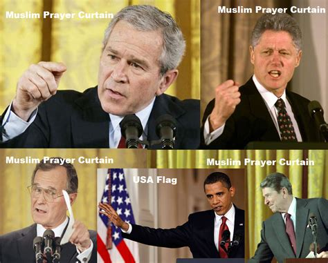 Obama Muslim Prayer Curtain by Robot Zombies Save The Drama For Obama
