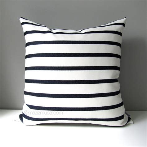 blue and white striped patio cushions navy blue white outdoor pillow cover modern striped pillow