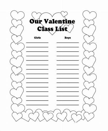 Class Template Valentine Templates