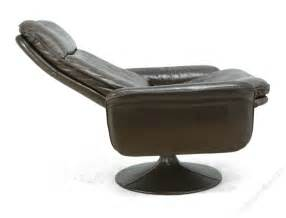 antiques atlas leather swivel chair by de sede c1970