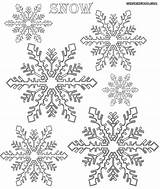 Snow Coloring Snowflakes Colorings sketch template
