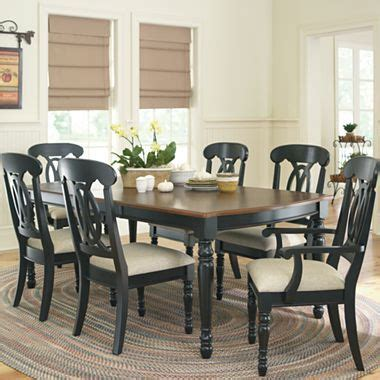jcpenney dining table set raleigh 7 pc dining set jcpenney decor furniture