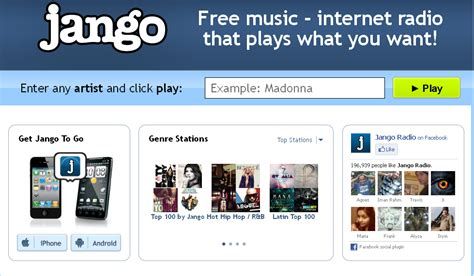 Listen To Your Favourite Music Online With Jango