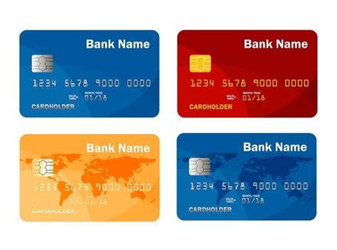 set  credit  debit card template  payment cash