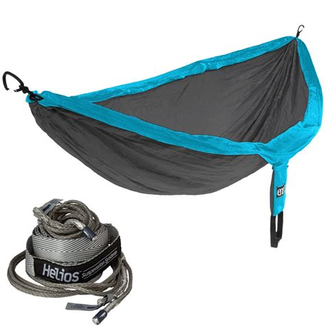 Hammock Suspension Systems by Eno Doublenest Teal Charcoal Hammock With Helios