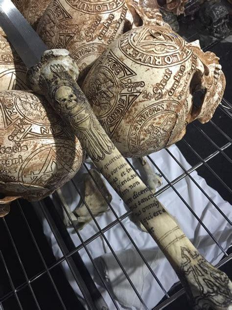 bones   enemies  sword handle carved