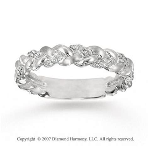 braided with diamonds wedding band ecclesiastes 4 12 a cord of 3 strands cannot be broken