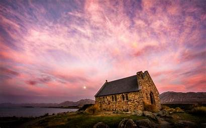 Tekapo Lake Fondo Zealand Church Zelanda Nueva
