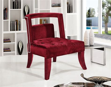 Tribeca Accent Chair 546 In Burgundy Velvet By Meridian