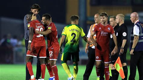 Carabao Cup round-up: Shock exits for Norwich and Crystal ...