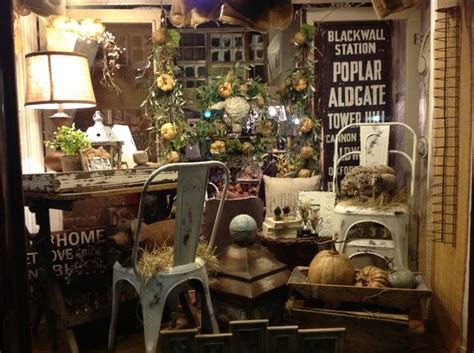 not shabby antiques not so shabby fall window display really wanna go to this store booth displays pinterest