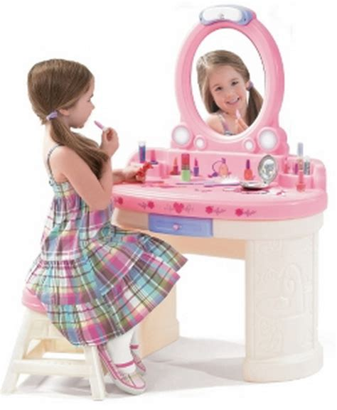 dress up vanity new pink play dress up vanity with mirror stool