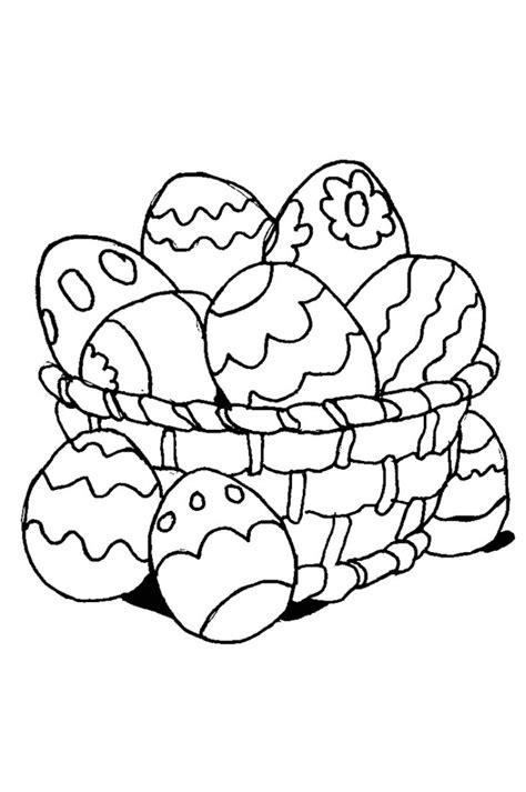 sta disegni da colorare gratis cesta con uova di pasqua disegno da colorare per bimbi