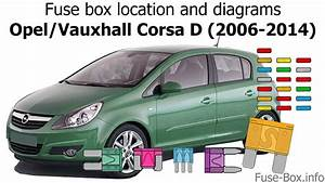 Fuse Box Location And Diagrams  Opel    Vauxhall Corsa D  2006-2014