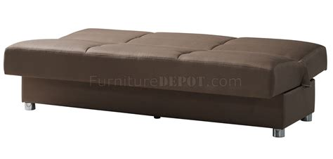 romano sofa bed in brown fabric by casamode