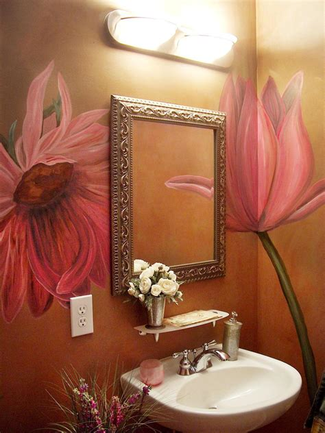 Bathroom Wall Flowers by Colorful Bathrooms From Hgtv Fans Bathroom Ideas