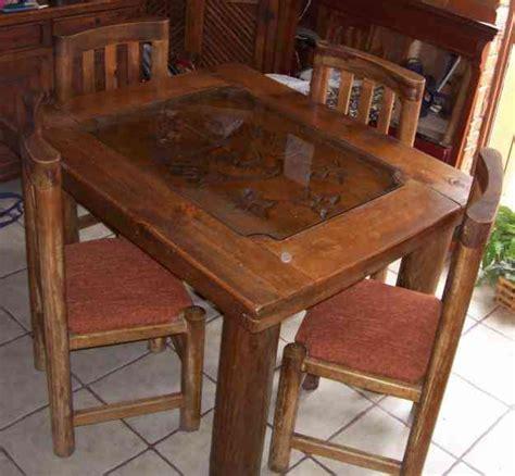 comedor rustico madera tallada benito juarez doplim