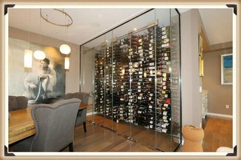 glass enclosed wine cellar  selling point  clients home