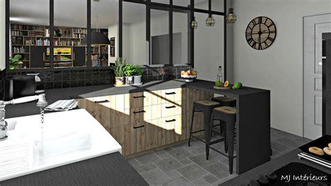 cuisine style atelier industriel cuisine style industriel et rustique avec verri 232 re atelier