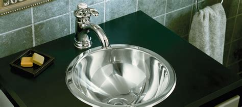 kohler stainless steel sink and faucet package stainless steel bathroom sinks bathroom kohler
