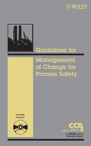 guidelines management change process safety aiche