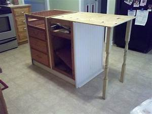 old base cabinets repurposed to kitchen island hometalk With widen your kitchen with a kitchen island