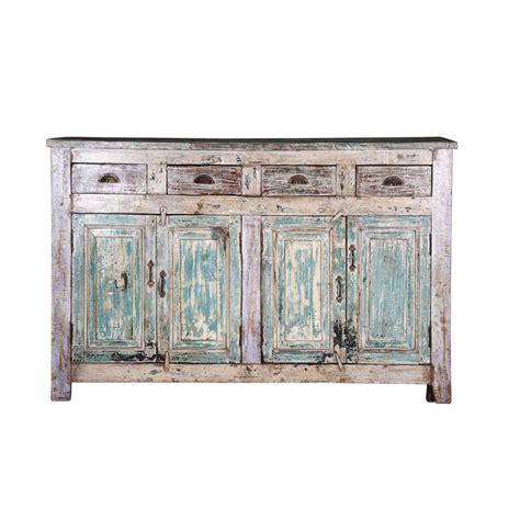 Winchester Sideboard by Winchester Distressed Rustic Reclaimed Wood 4 Drawer Sideboard