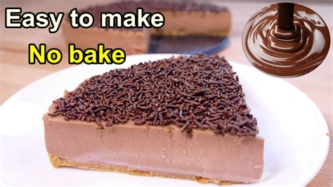 tasty no bake chocolate cake easy food desserts to make at home buzzsters