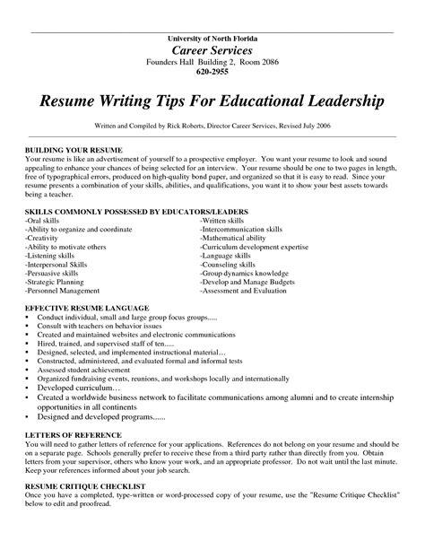 exles of resumes resume layout word sle in format
