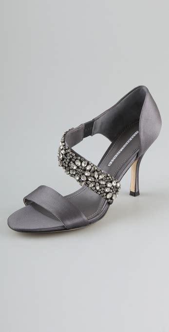 vera wang lavender elroy high heel sandals  gray lyst