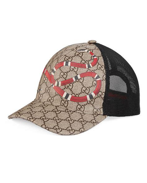supreme hat sale gucci snake print gg supreme baseball hat brown neiman