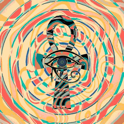 ankh egyptian eye animated gifs ra trippy animation colorful psychedelic symbol tripcontrol worship signs graphic shapes mythology purple glowing notes