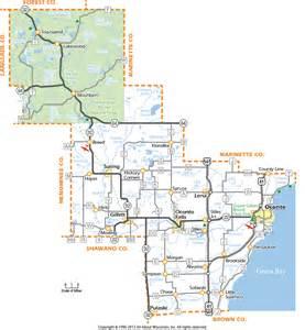 Oconto County Wisconsin Map