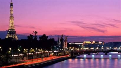 Eiffel Tower Sky Purple Paris Travel Side