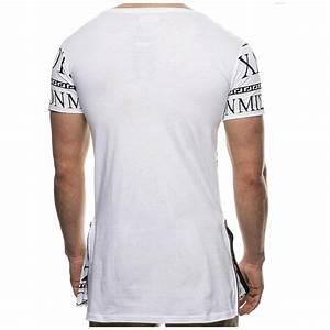 Tee Shirt Moulant Homme : tee shirt long moulant pas cher pour homme r f t98 vetement fashion ~ Dallasstarsshop.com Idées de Décoration