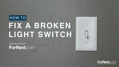 how to fix a broken light switch