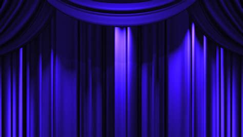 blue stage curtain on black background loop able 3d