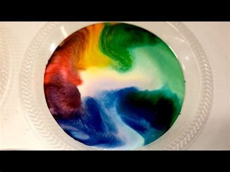 milk food coloring  dish soap experiment incredible