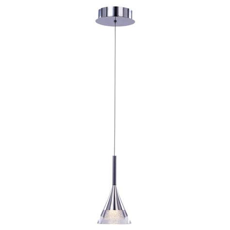 led glass pendant lights visconte gem conical led glass ceiling pendant chrome
