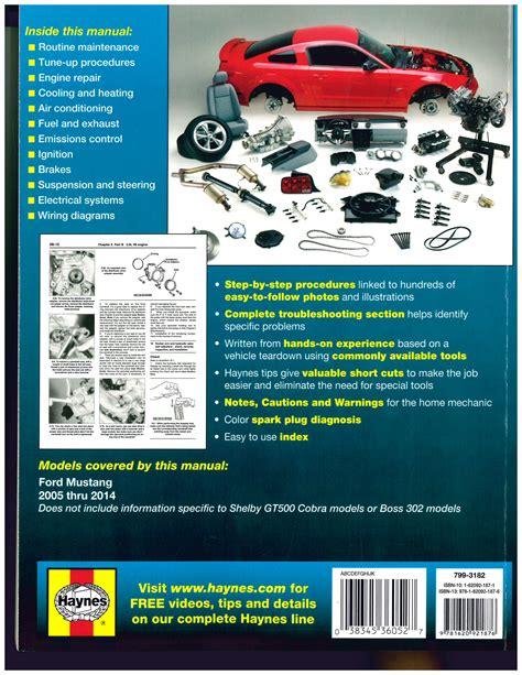 ford mustang   haynes automotive repair manual