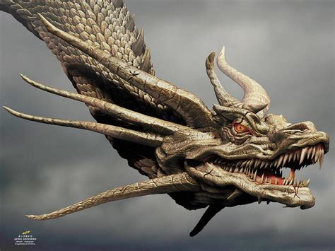 Godzilla has done battle across continents regularly and is fighting has often been done to defend us planet earth for a bunch. zKING GHIDORAH head concept by dopepope on DeviantArt
