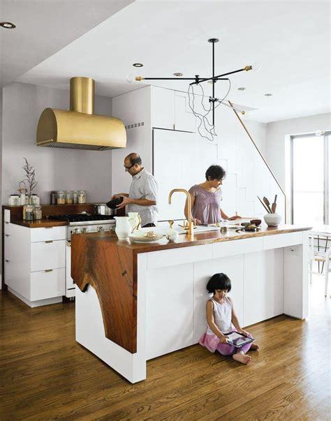 idee plan cuisine cuisine blanche plan de travail bois inspirations de déco