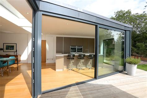 ral color aluminium sliding glass doors  fly screen pvdf surface finishing patio doors grey
